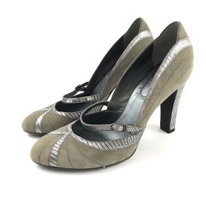 Cole Haan Heels Pumps Size 7 Suede Mary Jane Gray